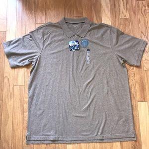 NWT Covington Big & Tall Tan Polo Shirt 3X XXXLT